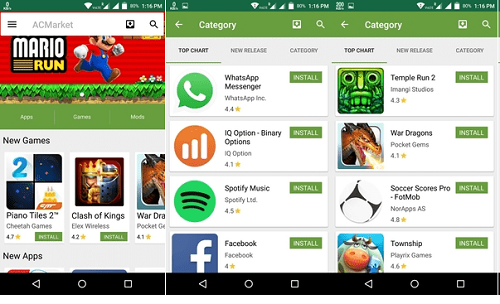 Features of ACMarket App for Android